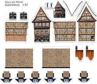 Bouwplaten Harzer Huizen Bastelbogen Harzer Hauser Papiermodell Bastelbogen Papierhauser