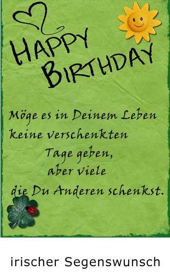 Zum Geburtstag Irischer Segenswunsch Irische Segenswunsche