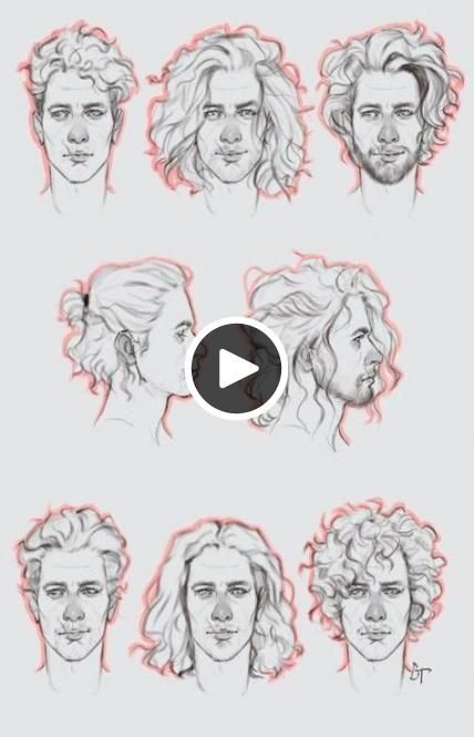 Hair Drawing Reference Male Back 59 Best Ideas Curly Hair Drawing How To Draw Hair Guy Drawing