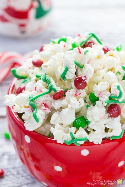 White Chocolate and Peppermint Popcorn