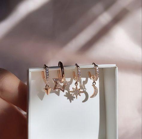 925 Solid Silver Cubic Zirconia Gemstone Rosegold Vermeil #dropearrings #huggies #rosegoldearrings