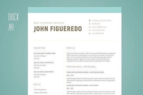 2-Page Resume for Creatives - Simple and Clean 2-Page Resume - google document resume template