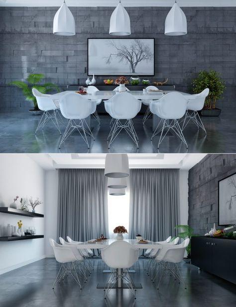 Moderne Esszimmer Designs Kombiniert Mit Minimalistischen Dekor Und  Perfekte Anordnung In Es #dekor #designs #esszimmer #kombiniert  #minimalistischen ...
