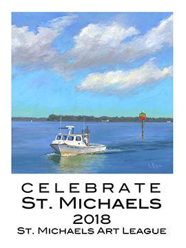 2018 St Michaels Banners Saint Michaels Art League Michael Art Saint Michaels Art