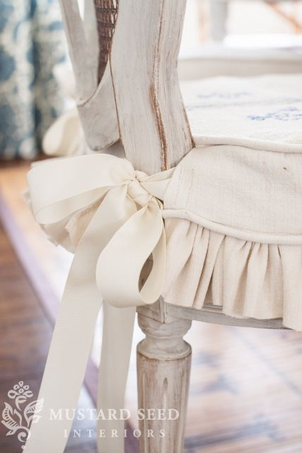Slipcover Tutorial With Ties A Ruffled Skirt