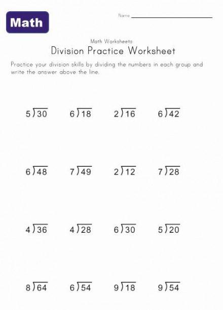 Simple Division Worksheets 4th Grade Division Worksheets Simple Division Worksheets Simple Division 4th grade division worksheets