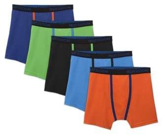 8f6a90803c8024 Fruit of the Loom Breathable Lightweight Boxer Briefs, 5 Pack (Little Boys  & Big Boys)