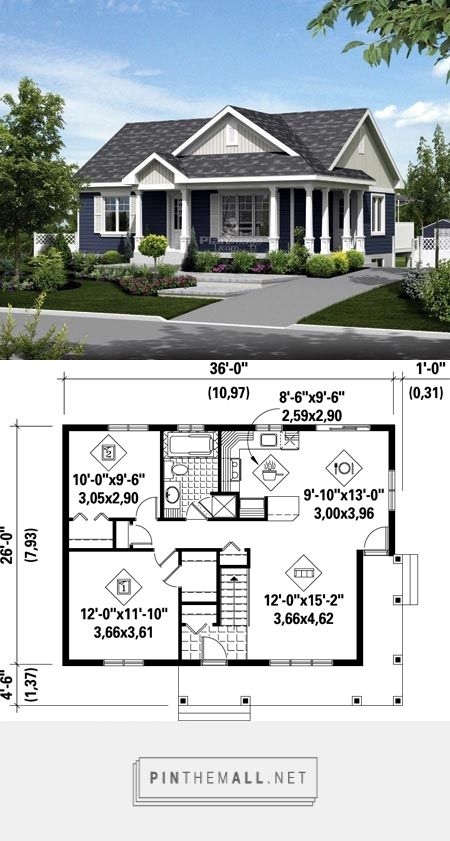 House Plan 52549 At Familyhomeplans Com Created On 2017 12 30 00 54 05 Sims House Plans Tiny House Floor Plans Small House Floor Plans