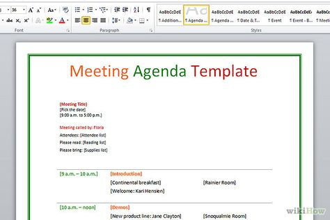 Agenda Sample Format Fair Key Elements Of An Agenda  Helpful Notforprofit Information  Pinterest