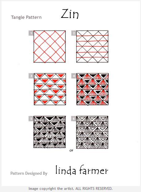Zentangle+Patterns+Step+By+Step   BLOG SUZANNEMCNEILL COM: A Little