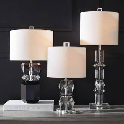Liza Crystal Table Lamp Frontgate In 2020 Crystal Table Lamps Lamp Table Lamp
