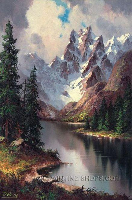 48 Ideas Painting Landscape Mountain Beautiful Painting Oil Painting Landscape Landscape Paintings Landscape Art