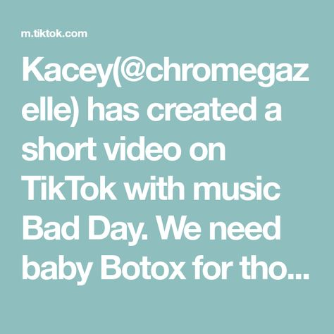 Kacey(@chromegazelle) has created a short video on TikTok with music Bad Day. We need baby Botox for those frown lines 🤣🤣 #babytok #newborn #grumpybaby #babyfever #babiesoftiktok #babygirl