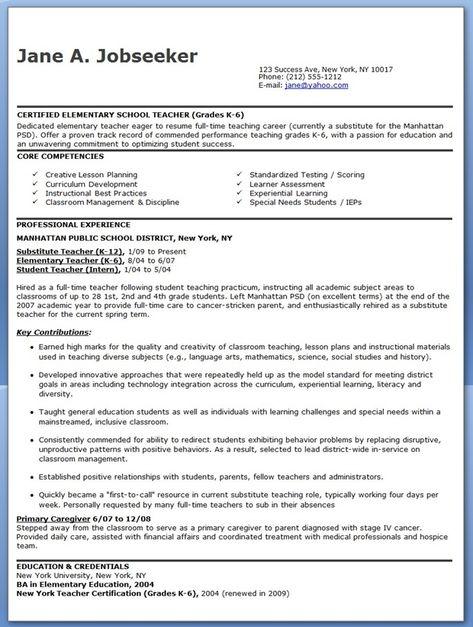 8 Best images about Job Search on Pinterest Teacher portfolio - kindergarten teacher resume example