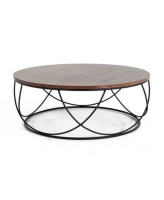 Awesome Modrest Strang Modern Round Coffee Table Macys Com Bralicious Painted Fabric Chair Ideas Braliciousco