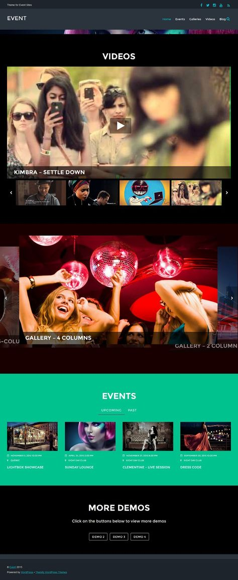 Event Responsive WordPress Theme for Music and Entertainment