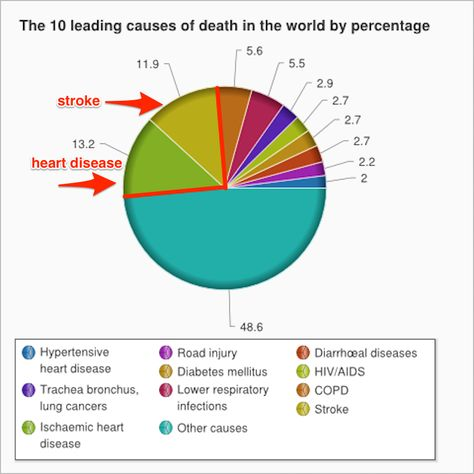 Just 2 things cause a quarter of all the deaths in the world Pie - electrical pie chart