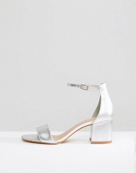 0421954f9ef ALDO Villarosa Leather Block Heel Sandals - Silver