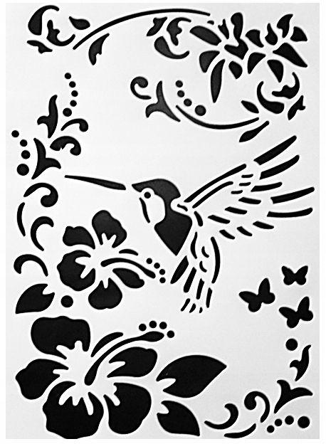 Szablon Scrapbooking 21 X 31 Koliber Wz 16 7891988411 Oficjalne Archiwum Allegro Drawing Stencils Stencils Painting Gift