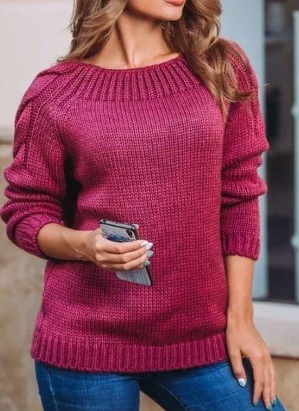 Вязаный пуловер с косами на рукавах спицами. Вязание свитера с косами на рукавах описание