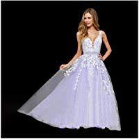 30a57f856 Abaowedding Women's Wedding Dress for Bride Lace Applique Evening Dress V  Neck Straps Ball Gowns #