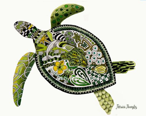 Twisted Turtle by PaintTropics on Etsy, $25.00