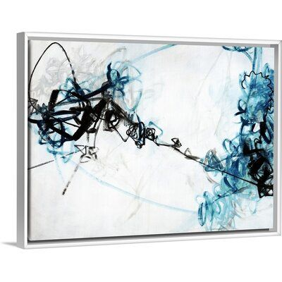 Orren Ellis What D You Say Painting On Canvas Format White Floater Frame Size 19 7 H X 25 7 W X 1 75 D Painting Canvas Art
