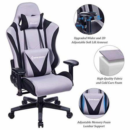Fabric Adjustable Von Foam Memory Chair Racer Gaming VSGzLqUMp