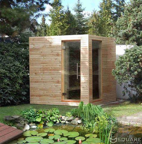 Best Die edle Au ensauna mit Vorraum Ihre private Wellness Lounge f r den Garten oder die Dachterrasse Traumhaus Pinterest Saunas Outdoor sauna and