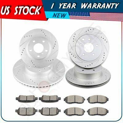 Front+Rear Brake Rotors /& Ceramic Pads For Infiniti Nissan