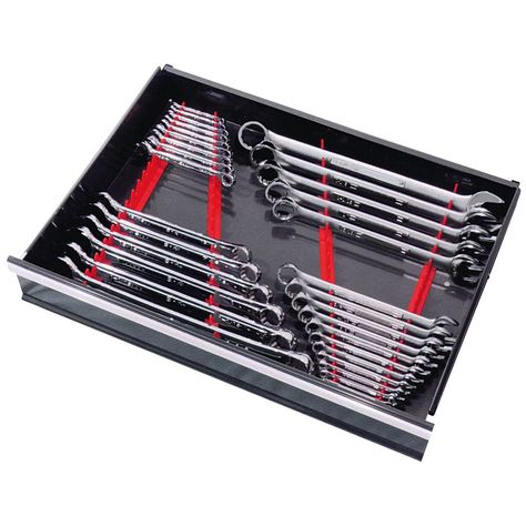 Red Spanner Rack Wrench Holder Storage Rack Rail Tray Wrench Utensils Hot Sales