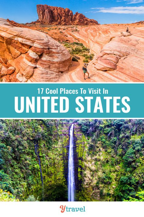 Looking for cool places to visit in the USA? Check out this list of 17 places in the USA to add to your USA bucket list including fum small cities, amazing national parks, cool historical places and much more. Don't take a USA road trip before reading these USA travel tips! Some of these USA destinations you have probably not heard of! #USA #roadtrips #travel #vacations #USAtravel #nationalparks #familytravel