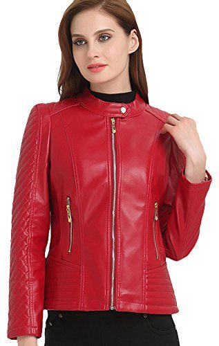 A/&H Apparel Womens Genuine Sheep Leather Durable Incredible Soft Leather Motorcycle and Casual Jacket Black
