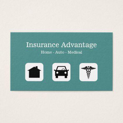 Multi Line Insurance Agent Business Card Zazzle Com Insurance