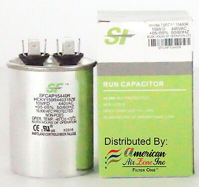 Trane Run Capacitor 15 Mfd 370 440v Pack Of 1 Oval For Motors Comp Capacitor Trane Air Filter Lights