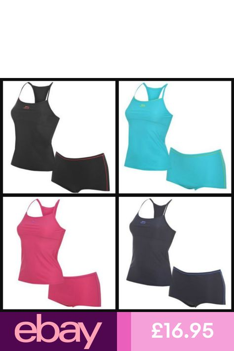 Ladies Slazenger Tankini Swimming Costume Swimsuit Swimmers8 10 12