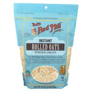 Bob S Red Mill Instant Rolled Oats Case Of 4 16 Oz Cooking Rolled Oats Quick Cooking Oats