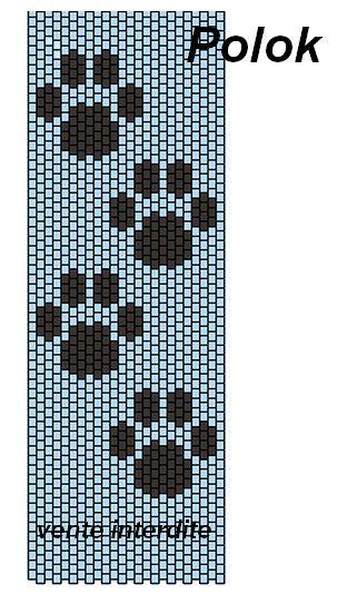 Pattes de chat Plus Loom Bracelet Patterns, Seed Bead Patterns, Peyote Patterns, Beading Patterns, Cross Stitch Patterns, Knitting Patterns, Cross Stitches, Loom Bands, Motifs Perler