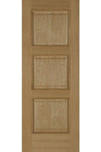 Internal Door Oak Madrid Fire Door 3 Panel With Raised Mouldings Pre Finished 248 Fire Doors Fire Doors Internal Internal Doors