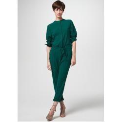 Wool crepe jumpsuit in dark green windsor -  Wool crepe jumpsuit in dark green windsor  - #CasualOutfits #crepe #Dark #ElieSaab #green #HauteCouture #jumpsuit #ReadyToWear #windsor #wool