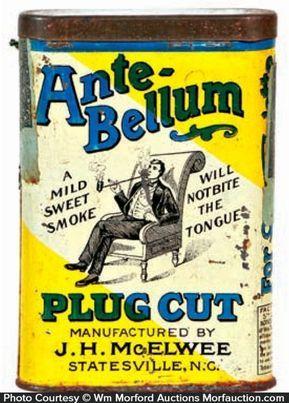 Ante-Bellum Plug Cut Tobacco Tin in 2019 | tins lots an lots