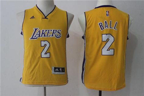 c4bebe491e82 Men 2 Lonzo Ball Jersey Yellow Los Angeles Lakers Swingman Fanatics ...