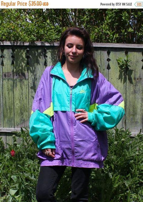 Vintage Nike cortaviento chaqueta por ThePinacoladaShop en Etsy