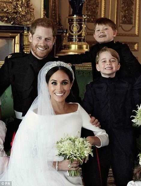 Prince Harry Wedding.Harry Meghan S Wedding Portrait Prince George Royal Wedding