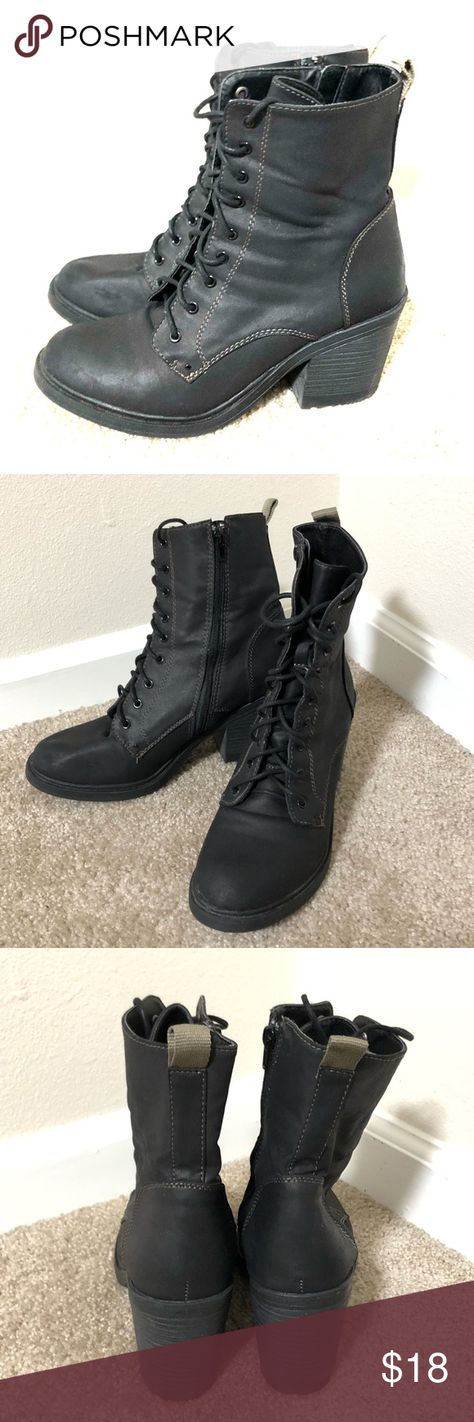 57842cee6789 Forever 21 Heel Combat Boots Hardly used heeled combat boots from Forever  21. Has a