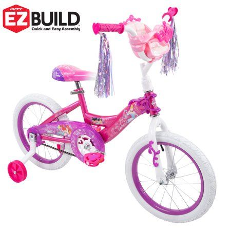 TODAY ONLY Girls 14 inch Huffy Minnie Mouse Happy Helpers w Training Wheels Bike