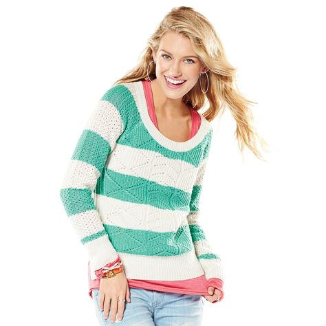 SO® Cable,Knit Lurex Hi,Low Sweater , Juniors
