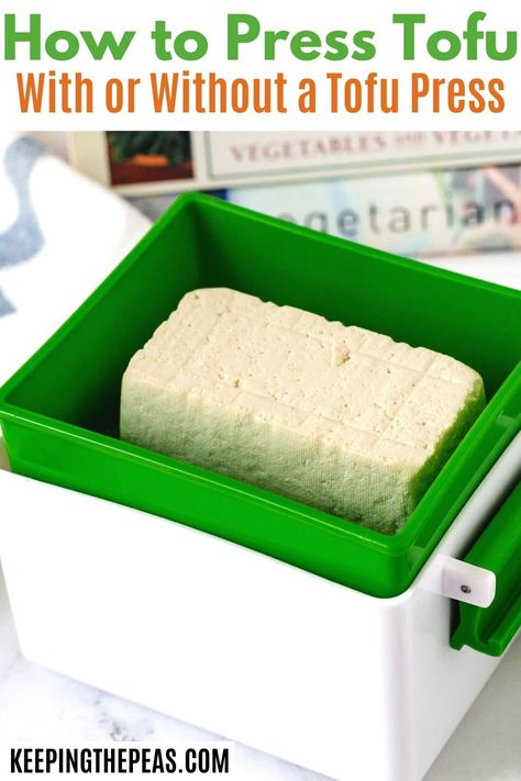 Learn how to press tofu in this step by step guide. You'll have firm and crispy tofu in no time at all to enjoy in your favorite vegan recipes and vegetarian dishes!