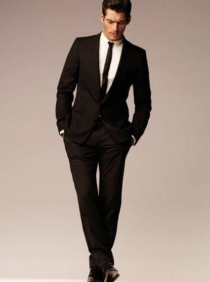 Black Suit, Skinny Tie: modern. sharp. sexy. winner. | Wedding ...