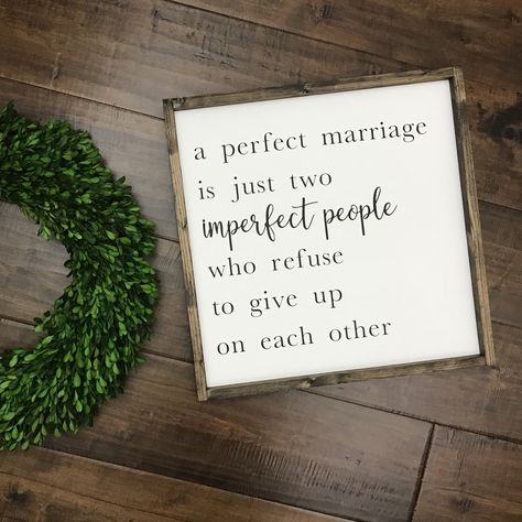 "A Perfect Marriage Sign measures approximately 19"" x 19"" Each RElovedLumber sign is handmade to order with quality, 100% solid wood. Each piece has its own natu"